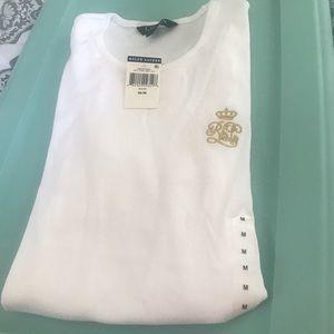 Ralph Lauren long sleeve cotton shirt, size M new